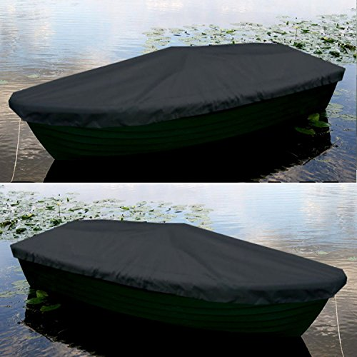 Sitzbag Anka Bootsplane Schwarz für Anka Ruderboote - Plane mit Kordelseil und Schlaufen - Premium Persenning Fischerboot Plane Abdeckplane Angelboot
