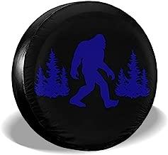 JIAU HUA Funny Blue Bigfoot Sasquatch Tire Covers Waterproof UV Sun RV Trailer Tire Protectors Universal Spare Tire Wheel Cover Fits 24