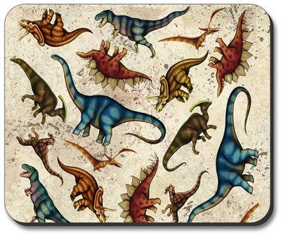 Dinosaur Toss - Art Plates Brand Mouse Pad - Image by Dan Morris