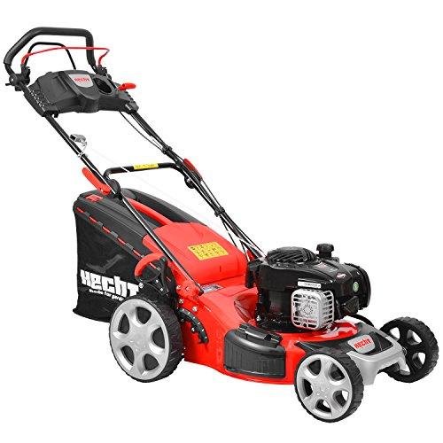 HECHT Benzin-Rasenmäher 549 SB Briggs & Stratton Benzin-Mäher (2,9 kW (4,0 PS), Schnittbreite 46 cm, 60 Liter Fangkorbvolumen, 7-fache Schnitthöhenverstellung 25-75 mm, Radantrieb)