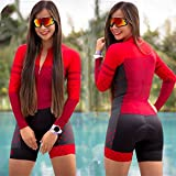 Triathlon manica lunga ciclismo jersey vestito donna jersey tuta tuta tuta in gel da bicicletta gel pad jersey felpa 20 (Color : C20 70, Size : Medium)