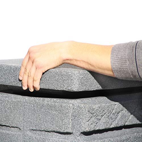 Regentonne eckig Regenwassertank Maurano 300 Liter anthrazit aus UV- und witterungsbeständigem Material. Regenfass bzw. Regenwassertonne mit kindersicherem Deckel und hochwertigen Messinganschlüssen