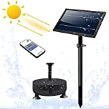 [2021 Version with Night Work] Solar-Fountain-Pump 6 in 1 Nozzle,2400 mAh Fountains Pump with Colored Led Lights&Remote...
