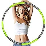 YueChen Hula Hoop Fitness Desmontable, 8 Secciones Hula Hoop Adultos,Ancho Ajustable (19-35in),Diseño Ondulado, Material de Espuma