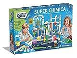 Clementoni Juego Lab-Extra Química, Kit de experimentos Ciencia, Laboratorio científico 8 años, Manual en Italiano, Multicolor, 19252