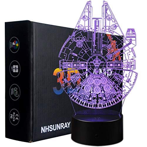 3D Optische Illusions-Lampen NHsunray LED 7 Farben Touch-Schalter Ändern Nachtlicht Für Schlafzimmer Home Decoration Hochzeit Geburtstag Weihnachten Valentine Geschenk (Star Wars Serie)