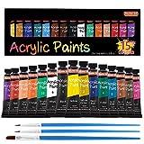 Acrylic Paint Set, Shuttle Art 15 x 12ml Tubes Artist Quality Non Toxic Rich Pigments Colors Perfect for Kids...