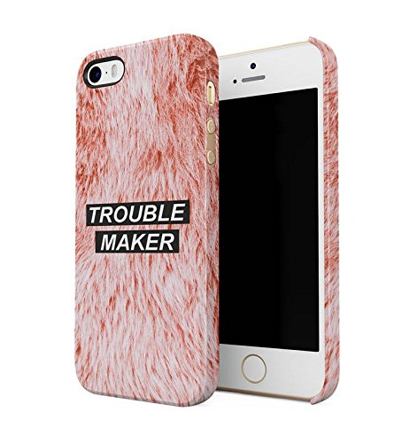 Trouble Maker Babygirl Girl Gang Girly Ginger Orange Animal Fur Pattern Durevole Plastica Dura Snap On Custodia del Telefono Case Cover per iPhone 5 / iPhone 5s / iPhone SE