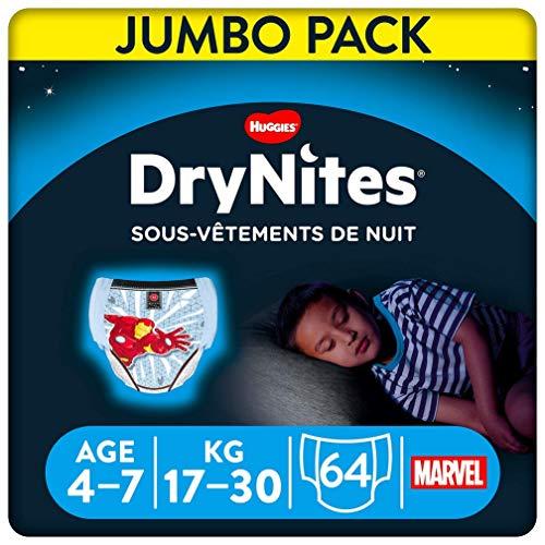 DryNites Einweg-Nachtwäsche für Jungen, 4-7 Jahre (17-30 kg), 4er Pack (4 x 16 saugfähiger)