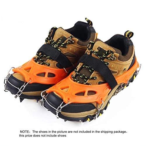 Greatangle 19 Z?hne Anti-Rutsch-Steigeisen Mini Spikes Schuhe Ice Traction Sicher Sch¨¹tzen Sie Sich beim Laufen Joggen Wandern auf Schnee EIS