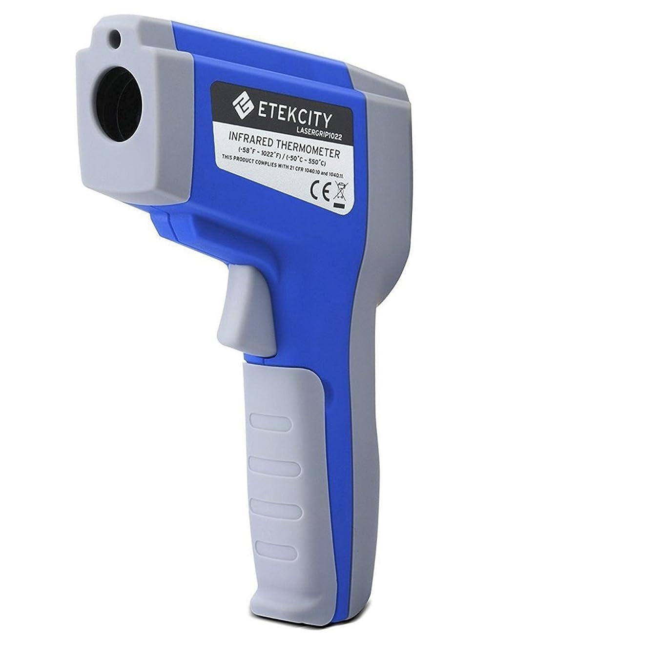 姪征服者価値のないEtekcity 赤外線温度計デジタルサーモメーター 非接触式温度計赤外線放射温度計Lasergrip 1022 Non-contact Digital Laser Infrared Thermometer with Adjustable EMS & MAX Display, Blue【並行輸入品】 BUYBOAZ