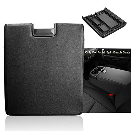 Center Console Armrest Lid with Latch for 2007-2013 Chevy Tahoe/Avalanche, 2008-2014 Silverado/GMC Yukon(XL)/Sierra 1500/2500/3500, Center Console Cover Repair Kit, Replaces OEM 20864154, Black