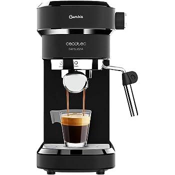 Cecotec cafetera espresso Cafelizzia 790 Black para espressos y cappuccino. Sistema de rápido calentamiento, 20 bares, Modo Auto para 1 y 2 cafés, vaporizador orientable,depósito 1,2 litros: Amazon.es: Hogar