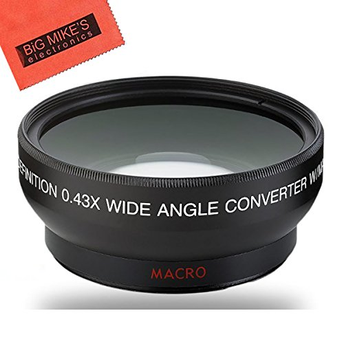 powerful 58 mm 0.43x wide-angle lens compatible with Canon Digital EOS Rebel SL1, T1i, T2i, T3, T3i, T4i, T5, T5i …