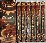 incienso sac chocolate , pack de 6 ,120 varillas , hexagonal