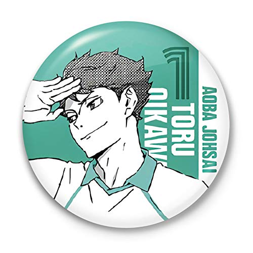 dili-bala Heißer Manga Haikyuu !! Cosplay Abzeichen Hinata Shoyo Brosche Pins 58mm Japan Anime Collection Abzeichen für Rucksäcke Kleidung(Multi-Style06)