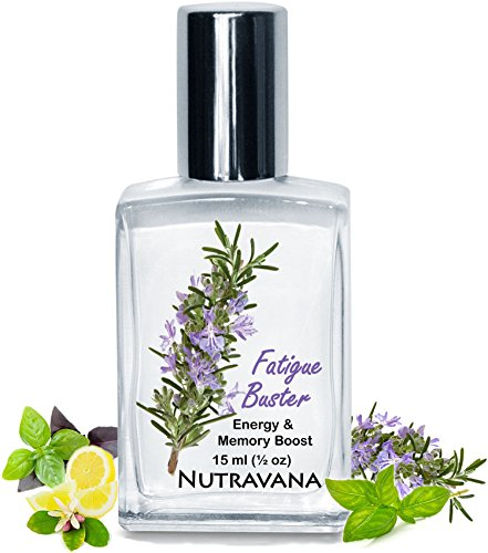 Fatigue Buster Stay Alert, Boost Mental Clarity, Energy, Memory Natural Herbal Remedy by Nutravana to Concentrate, Focus Without Caffeine or Stimulants Essential Oils Blend Kids Safe Roll on Guarantee