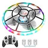 Q7 Mini Drone Drohne für Kinder mit Höhehalten und Headless Modus,Quadrocopter mit Bunte Nachtlicht,3 Akkus und Propeller voll zu schützen,Spielzeug Drohne für Kinder und Anfänger