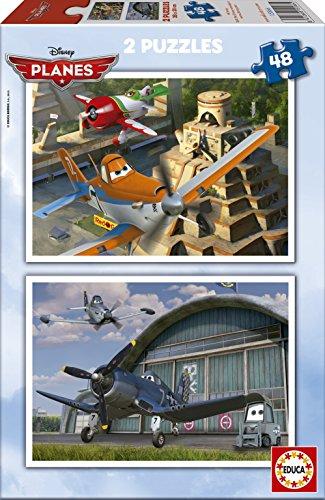 Puzzles Educa - Planes, 2 Puzzles x 48 Piezas (15566)