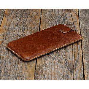 Braunes Leder Hülle für – iPhone 12 Pro Max – Cover Etui Tasche Case