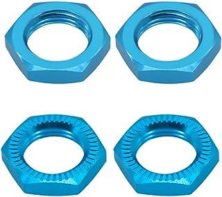 4X Alloy Wheel Nut 17mm Thread 1.0 for Arrma 6s Notorious Kraton Outcast Typhon Talion Infraction Limitless Felony (Blue)