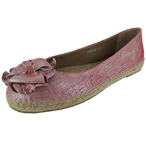 Donald J. Pliner Womens 'Maria-60ER' Espadrille Shoe, Coral/Natural, US 7