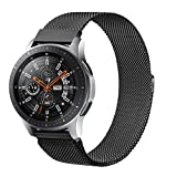 Senka 22mm Metal Correa Compatible con Samsung Galaxy Watch 3 45mm/Galaxy Watch 46mm/Gear S3,Pulseras de Repuesto de Inoxidable para Huawei Watch GT 2 46mm(22mm,Negro)