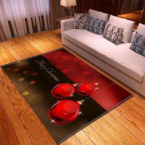 Kinntn tapijt, 3D, Scandinavische stijl, groot, antislip, wasbaar, met drie rode bollen, geschikt voor woonkamer, slaapkamer, keuken, hal, werkkamer, enz. 50x80cm