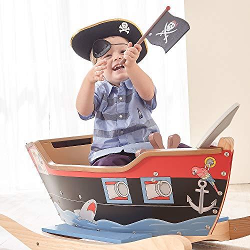 Teamson Kids Barca a Dondolo dei Pirati Grande Legno per Bambini TD-0066A