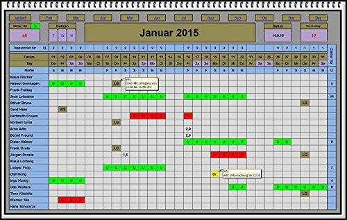 Digitaler Excel Urlaubsplaner 2020 2021 u.s.w Software Planungssoftware Dienstplaner Schichtplaner Personalplaner Urlaubskalender
