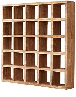 MIEMIE Bibliothèque Bois Rack Cabinet Rangement Affichage Rayonnage De Stockage Flottant Chêne Stockage Simple Multifoncti...