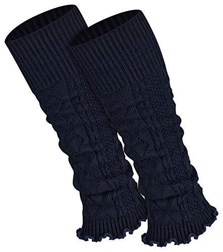 Piarini 1 Paar Bein Stulpen Damen - warme Beinstulpen Strick - marine