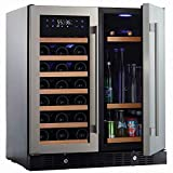N'FINITY PRO HDX by Wine Enthusiast Wine & Beverage Center – Holds 90 Cans & 35 Wine Bottles – Freestanding or Built-In Wine Refrigerator
