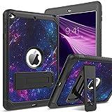 YINLAI iPad Mini 5 Case iPad Mini 4 Case 3 in 1 Kickstand Shockproof Heavy Duty Full Body Protective Hybrid Hard Tablet Cover Case for iPad Mini 5th Generation 2019/Mini 4 7.9 inch,Space/Galaxy Purple