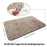 Gowersdee Non Slip Shoe Scraper Indoor Doormat Super Absorbs Mud Mat Door Mat for Front Door Entryway Shoes Scraper Machine Cotton Carpet