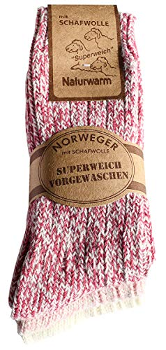 etrado fashion 3 Paar kuschelige weiche Norwegersocken mit Schafswolle (35-38 PRN)