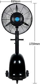 Jyfsa Ventilador Vertical Grande de fábrica Ventilador de nebulización de vibración al Aire Libre Ventilador Industrial Negro Refrigeración por aspersión Interior Ajuste