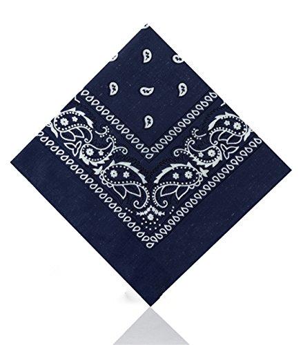 Unbekannt [UK Verkäufer] Herren/Damen Bandana Kopftuch Halstücher Paisley 100% Cotton - Marineblau, One size