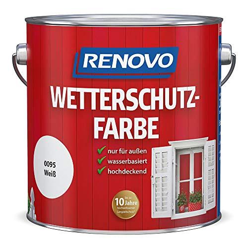 Renovo Wetterschutzfarbe 0,75 L weiss RAL 0095