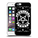 Head Case Designs Officially Licensed Motley Crue Pentagram and Skull Logos Soft Gel Case Compatible with Apple iPhone 6 / iPhone 6s