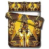 Gvvaceo Juego de Funda de Edredón Microfibra, 220x240cm con 2 x Fundas de Almohada de 50 x 70 cm para, Bedding Set Juego de Ropa de Cama, Figuras piramidales Famosas Vintage