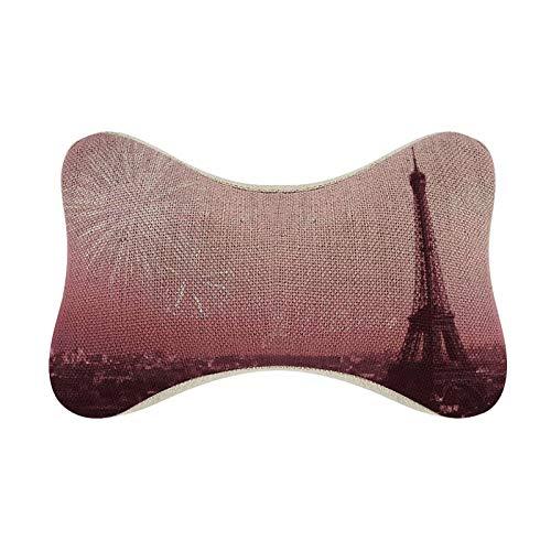 Funda de almohada con purpurina de la Torre Eiffel en la noche