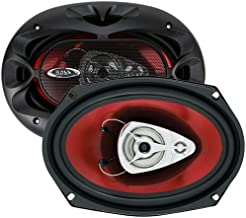 BOSS Audio CH6930 Car Speakers - 400 Watts of Power Per Pair and 200 Watts Each, 6 X 9 Inch, Full Range, 3 Way, Sold in Pairs