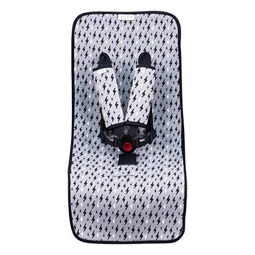 JANABEBE housse universal couverture pour poussette (Black Rayo)