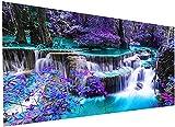 zeyungood Quadro 5D con strass 5D fai da te, ricamo a punto croce con cascata, 40 x 90 cm (ZYPT1301)