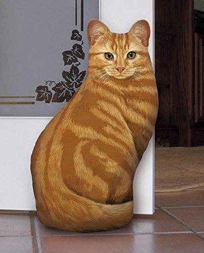 Fiddler's Elbow Orange Tabby Cat Door Stop, Decorative Door Stopper, Interior, Unique Doorstop, Cat...