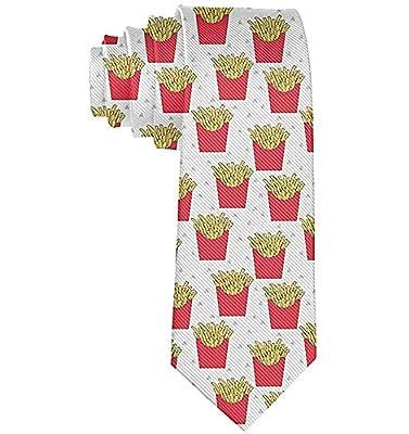 Cravate drôle cravates frites françaises mode large nouveauté cravates pour hommes adolescent