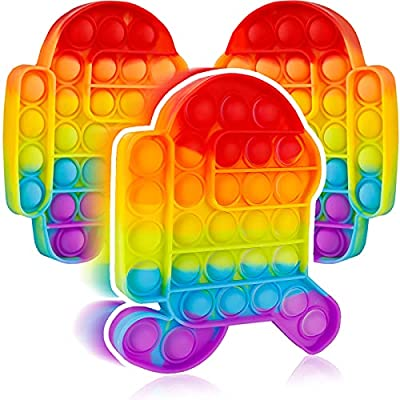 3 Packs Pop Poop Bubble Fidget It Toy, Anxiety Stress Relief Satisfying Squeeze Sensory Cheap fidgets Figetget Set Poppop Poppit Figit Rainbow New us Kid Boy Adult Gift by Aucma