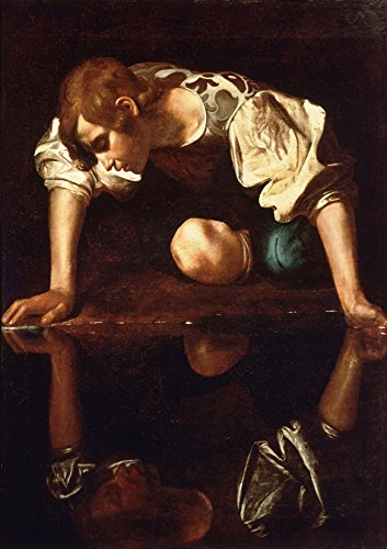 Michelangelo Merisi da Caravaggio: Narcissus. Fine Art Print/Poster. (59.4cm x 42cm)