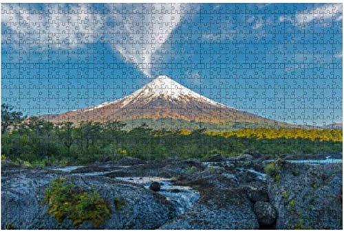 Osorno Volcano Sunrise Rompecabezas de madera Rompecabezas educativos Regalo Rompecabezas creativos 75 * 50 cm 1000 Uds